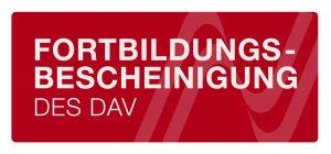 Fortbildungsbescheinigung DAV Rechtsanwalt Siegert-Paar
