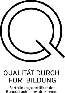 Fortbildungszertifikat der BRAK 2012-2020 für RA Matthias Siegert-Paar